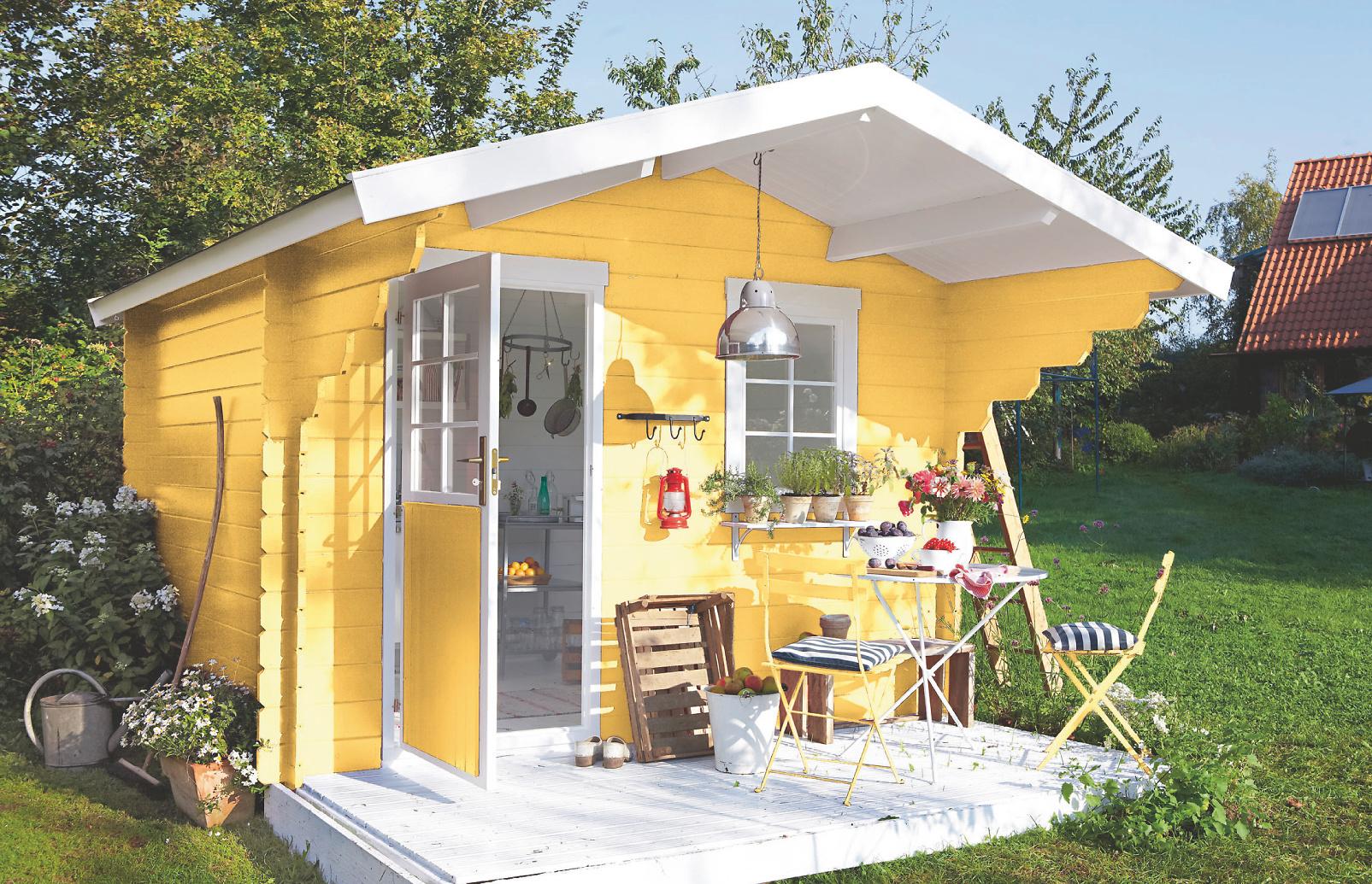 Schwedenhaus farben bedeutung  Holz-Lack gelb Erhalt der Maserung: Alpina Wetterschutz-Lackfarbe ...