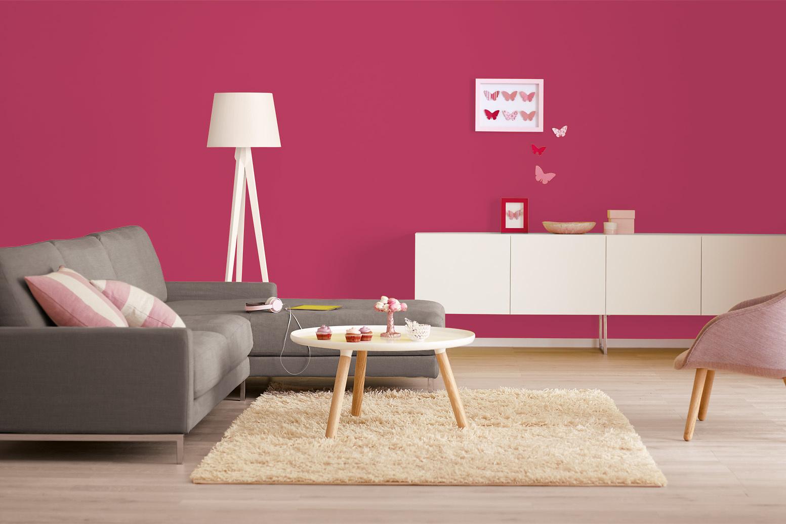 Schön Farbe Beere Galerie Von Innenfarbe In Rosa-rot, Fuchsia Streichen: Alpina Farbrezepte