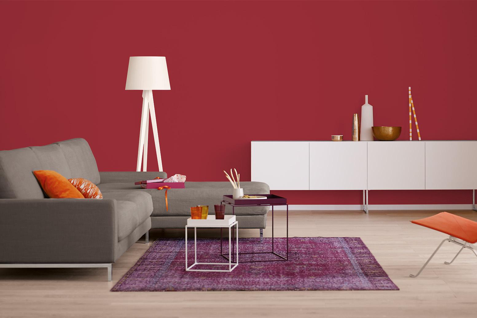 innenfarbe in rot tiefrot streichen alpina farbrezepte. Black Bedroom Furniture Sets. Home Design Ideas
