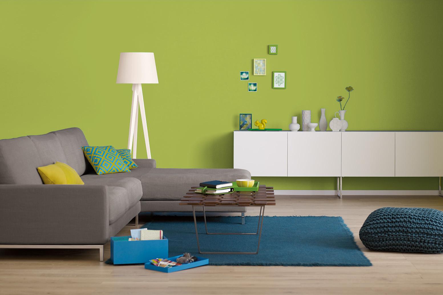 Innenfarbe In Gelb Grün, Maigrün Streichen: Alpina Farbrezepte  Frühlingswiese   Alpina Farben