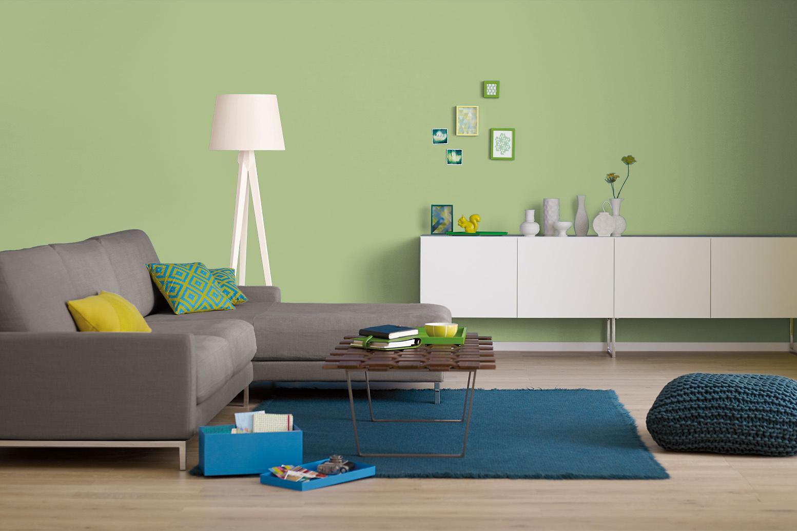 innenfarbe in gr n gelbgr n streichen alpina farbrezepte. Black Bedroom Furniture Sets. Home Design Ideas