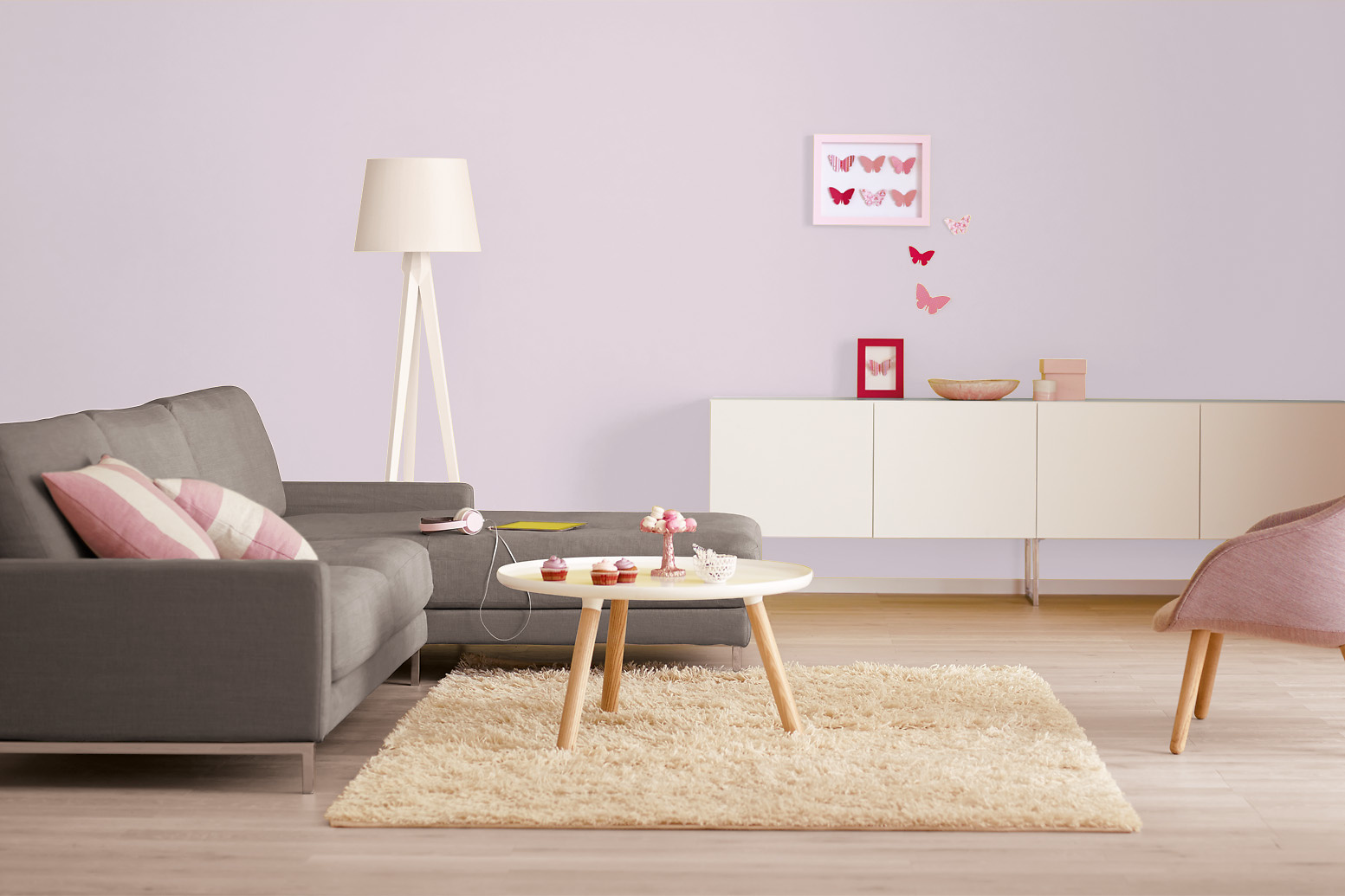 innenfarbe in pastellrosa ros streichen alpina. Black Bedroom Furniture Sets. Home Design Ideas