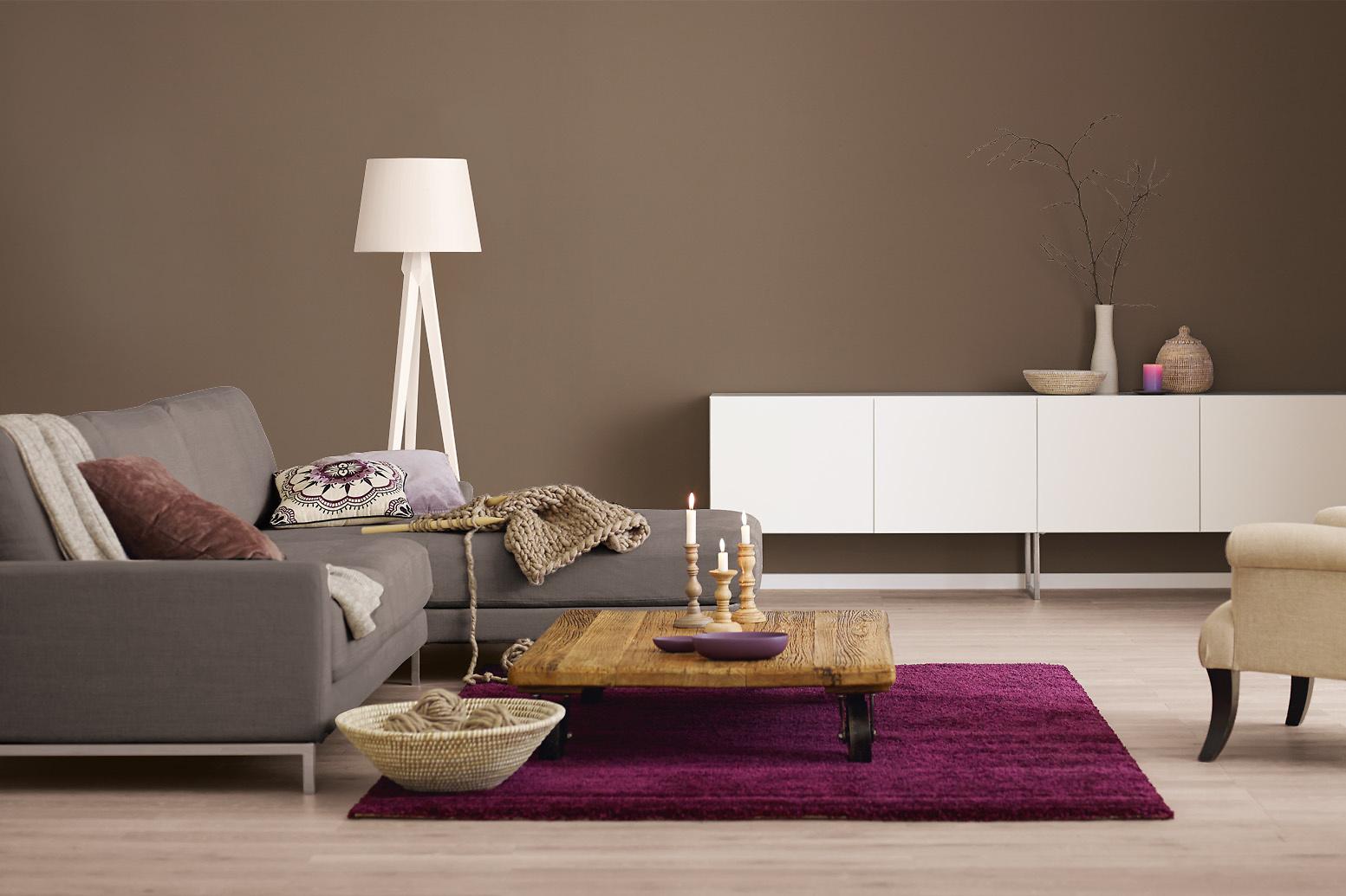 innenfarbe in braun erdbraun streichen alpina farbrezepte sanfte erde alpina farben. Black Bedroom Furniture Sets. Home Design Ideas
