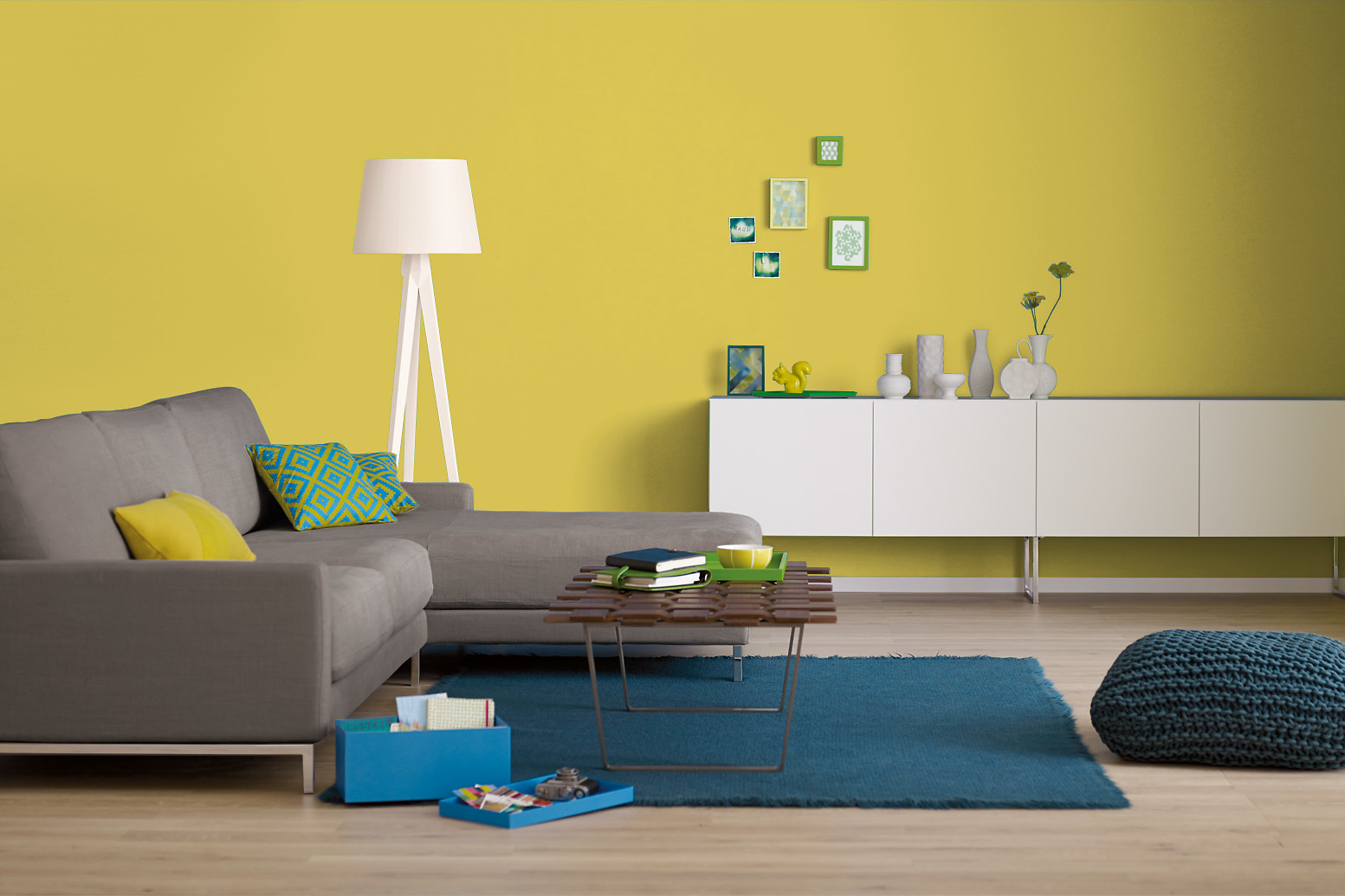 innenfarbe in gelb bananengelb streichen alpina farbrezepte sommerzeit alpina farben. Black Bedroom Furniture Sets. Home Design Ideas