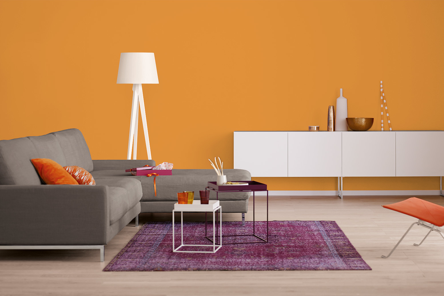 innenfarbe in orange streichen alpina farbrezepte. Black Bedroom Furniture Sets. Home Design Ideas