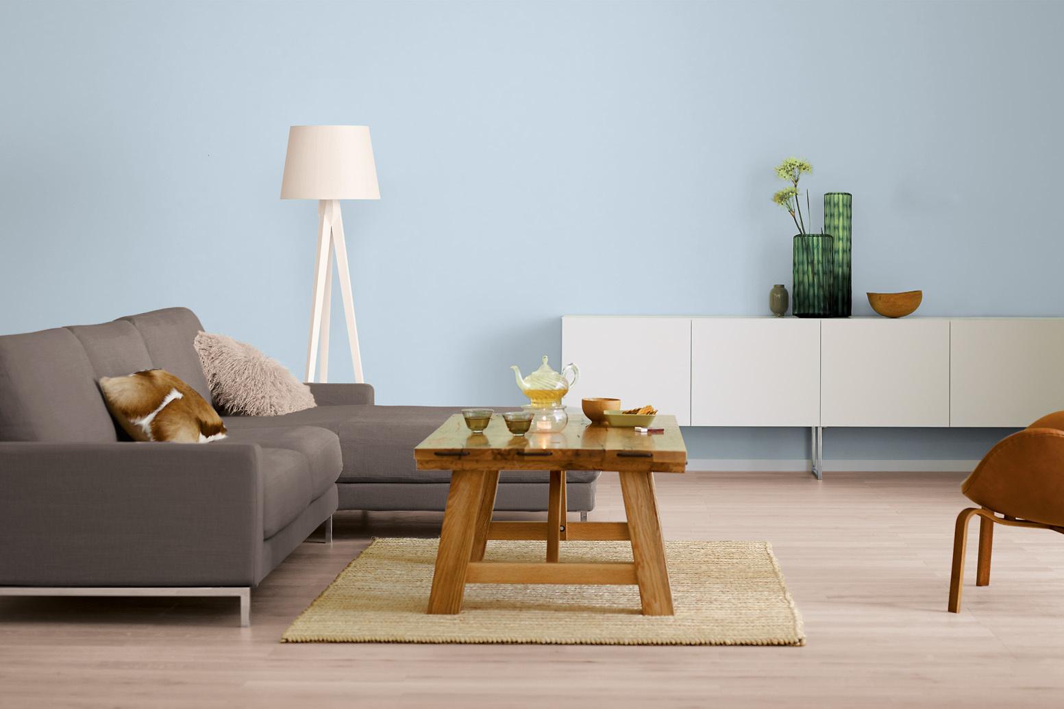 innenfarbe in blau wasserblau streichen alpina. Black Bedroom Furniture Sets. Home Design Ideas
