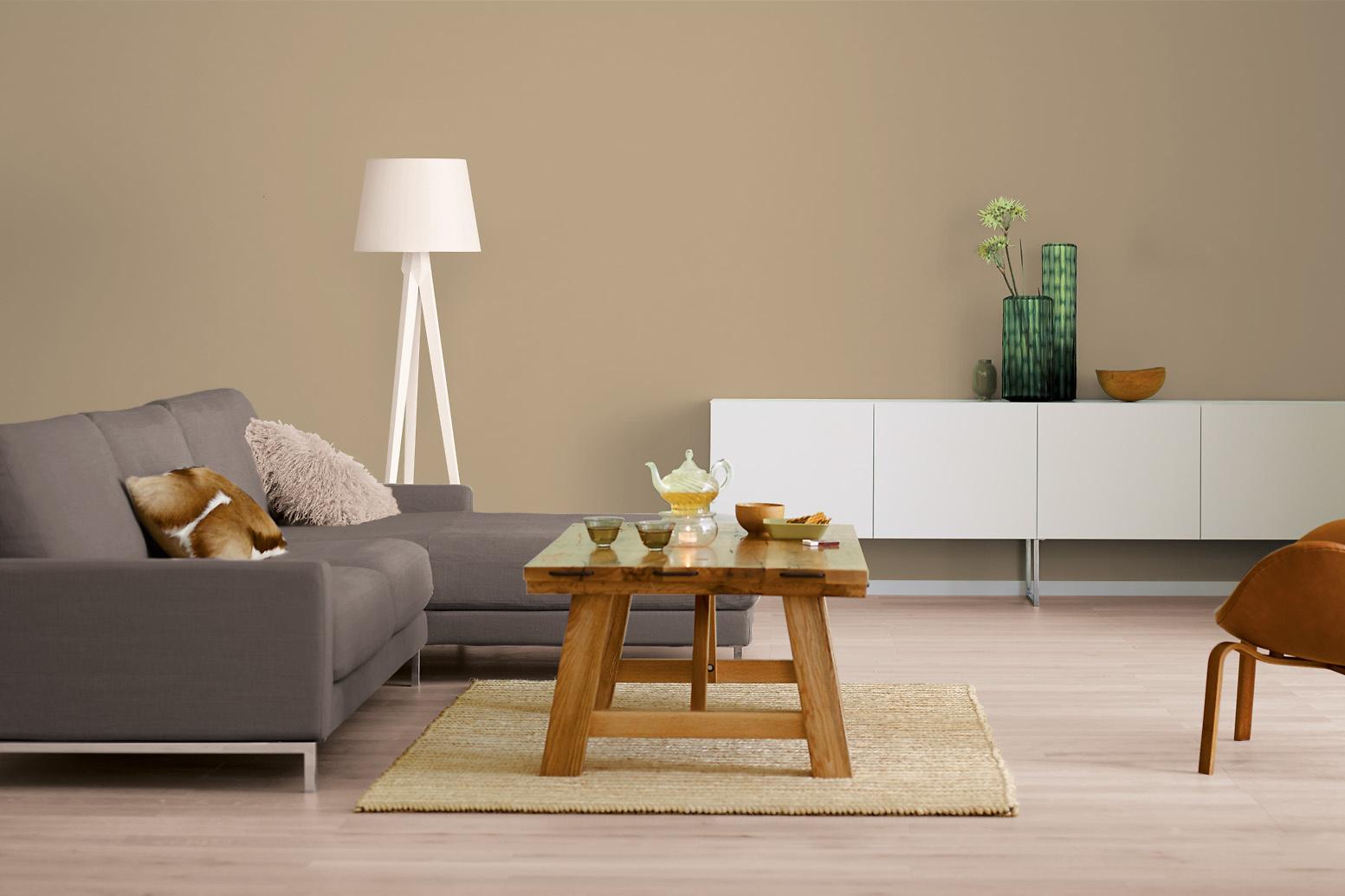 innenfarbe in braun beige streichen alpina farbrezepte tea time alpina farben. Black Bedroom Furniture Sets. Home Design Ideas