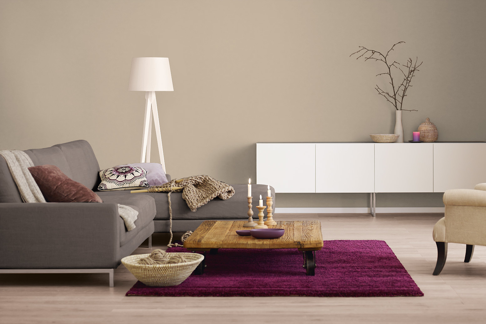 innenfarbe in braun taupe streichen alpina farbrezepte zartes puder alpina farben. Black Bedroom Furniture Sets. Home Design Ideas