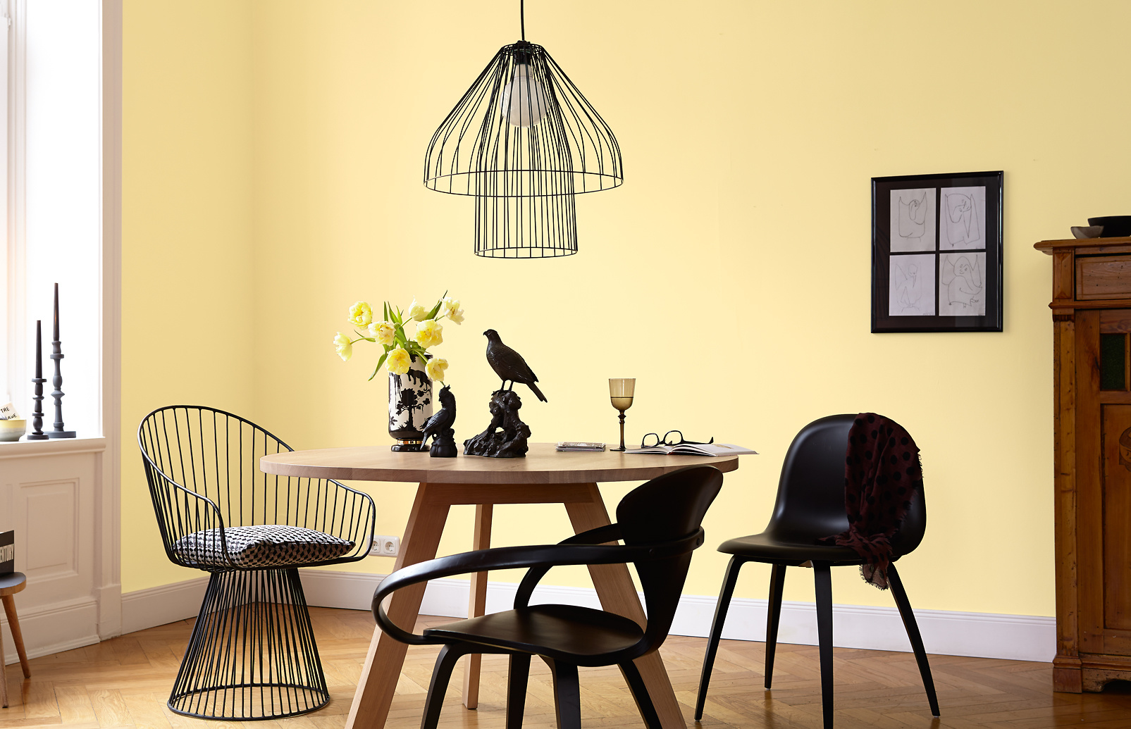 Premium-Wandfarbe. Gelb, pastellgelb: Alpina Feine Farben ...