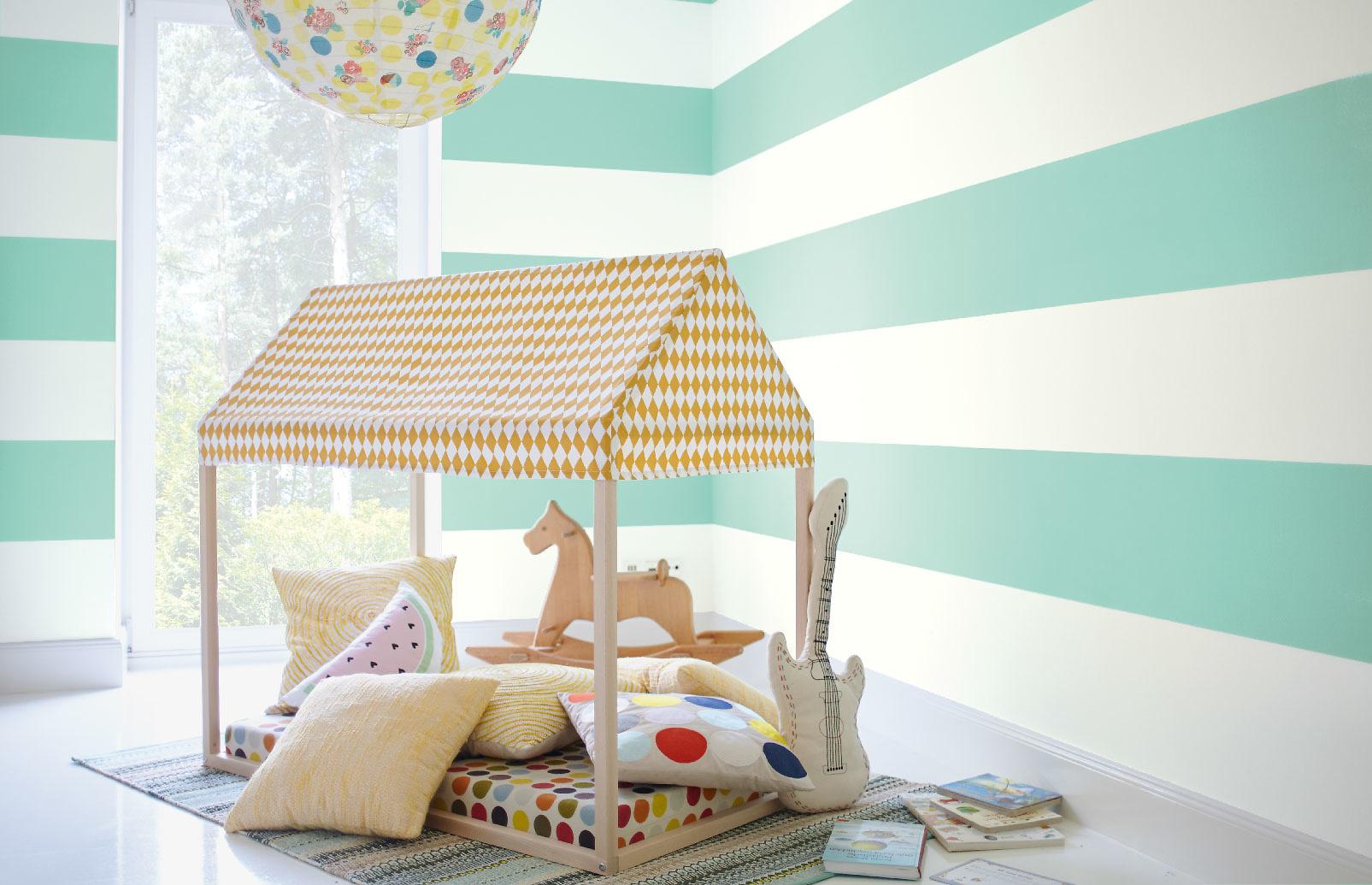 Kinderzimmer junge wandgestaltung grün  Grün - Alpina Farben