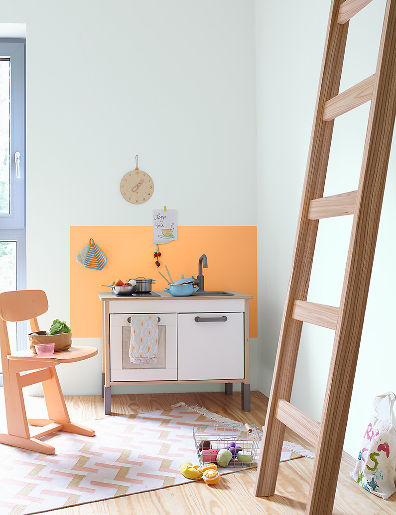 farbwahl kinderzimmer, orange - alpina farben, Design ideen