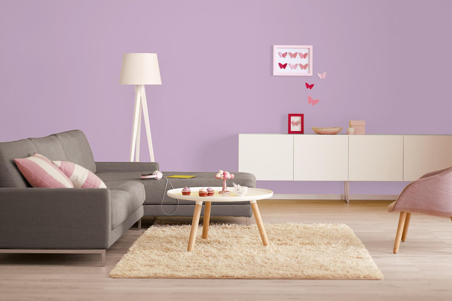 Innenfarbe In Violett Flieder Streichen Alpina Farbrezepte Fliederfest Alpina Farben