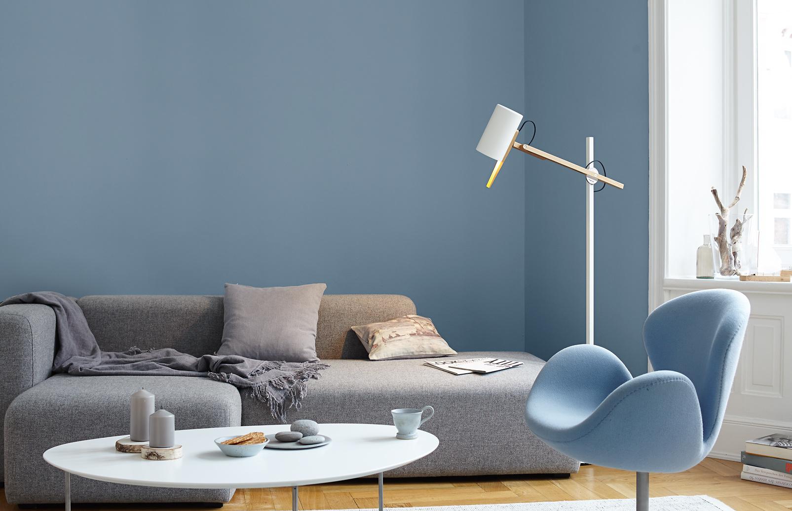 Premium Wandfarbe Blau Graublau Alpina Feine Farben Ruhe Des Nordens Alpina Farben
