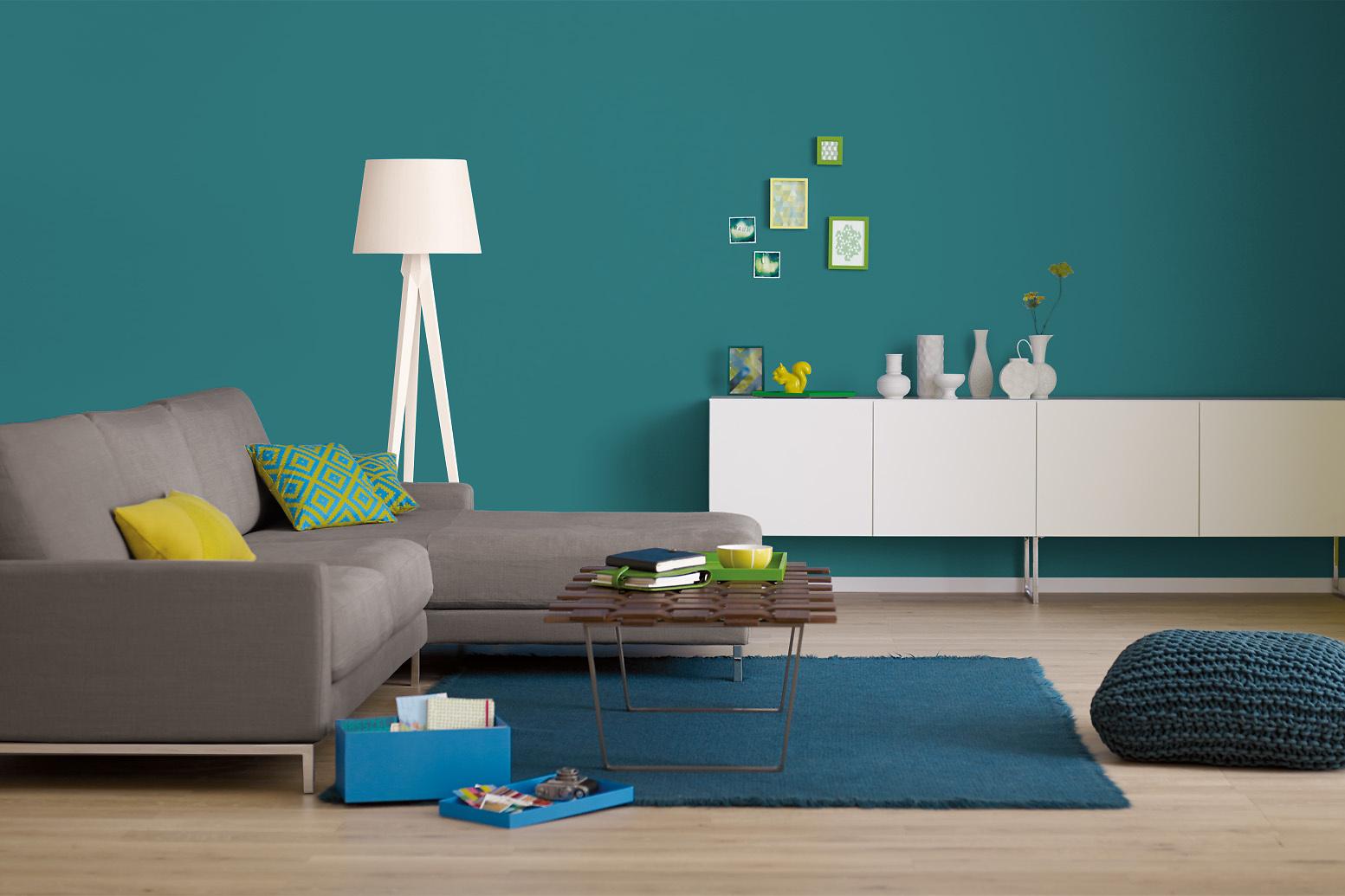 Innenfarbe In Grun Blau Turkis Streichen Alpina Farbrezepte Petrol Deluxe Alpina Farben