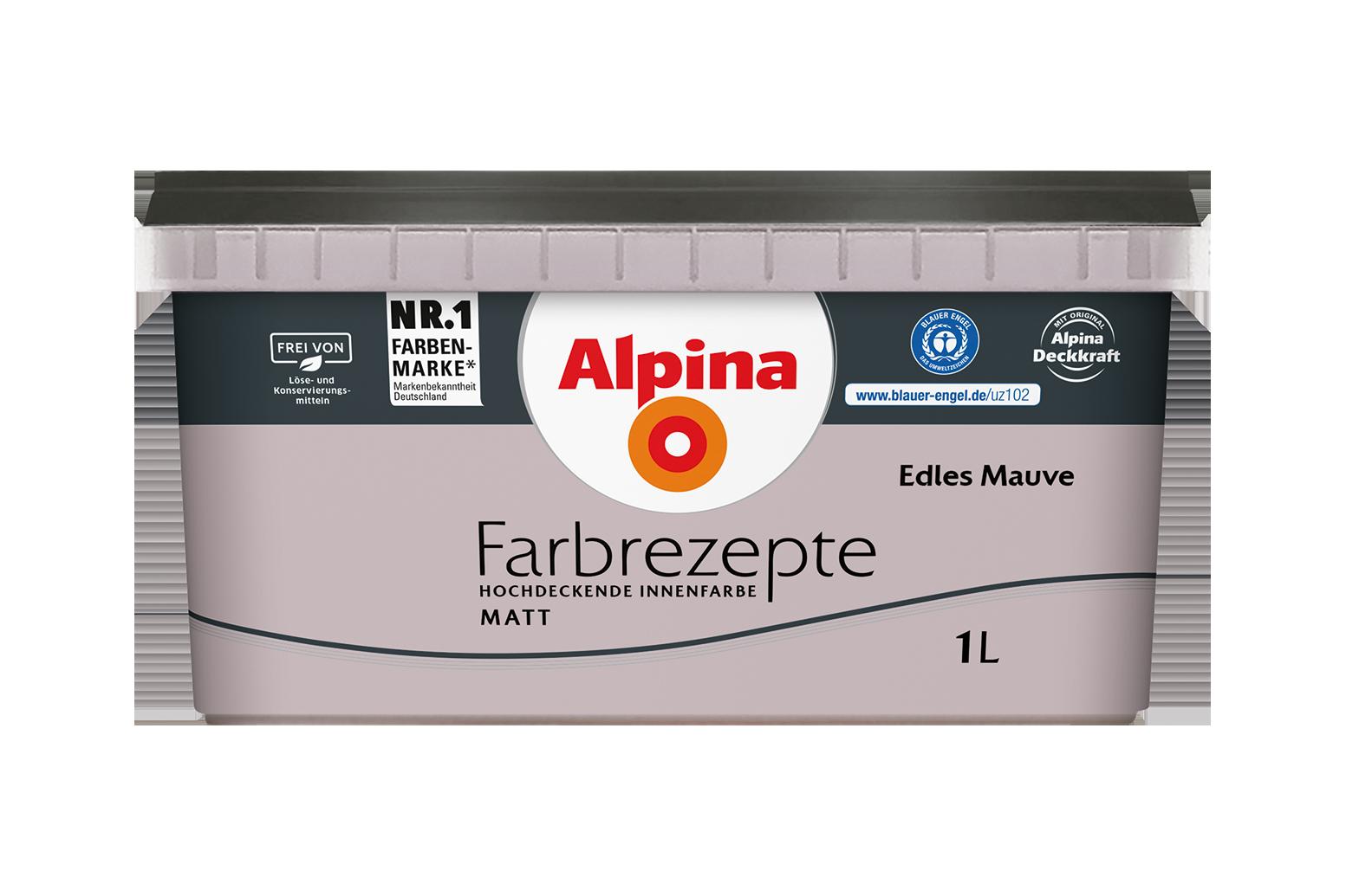 Innenfarbe in Grau-Lila streichen: Alpina Farbrezepte Edles Mauve ...