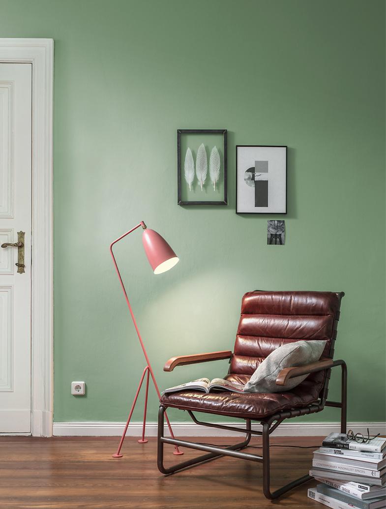 Premium Wandfarbe Grun Patinagrun Alpina Feine Farben Huterin Der