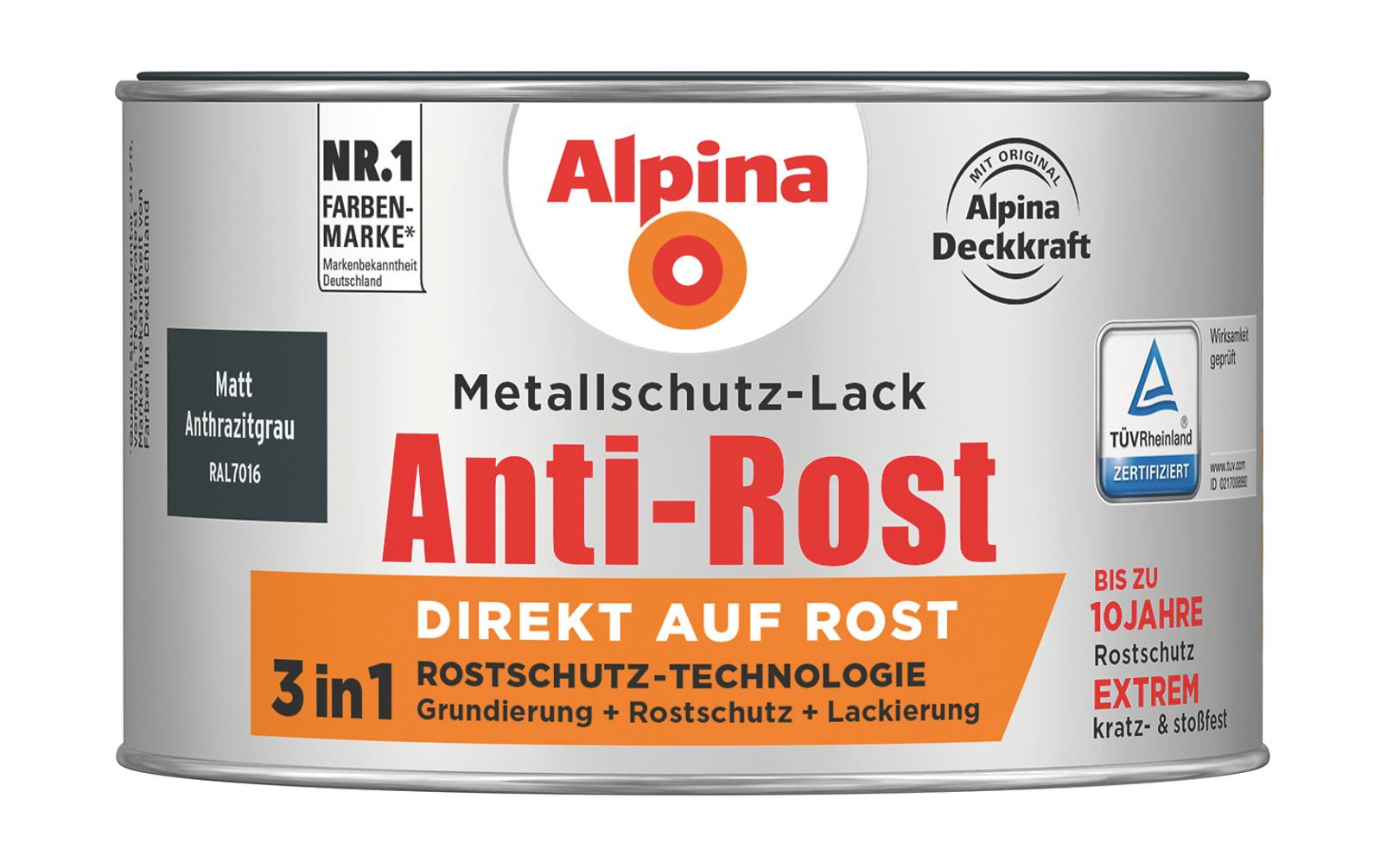Anti Rost Metallschutz Lack Matt Anthrazitgrau Direkt Auf Rost