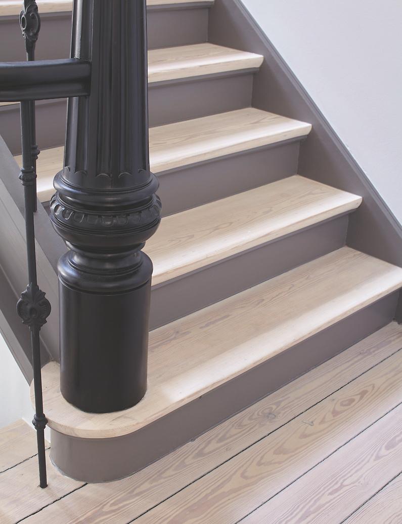 lack farblos für holzböden mit grundierung: alpina klarlack treppe