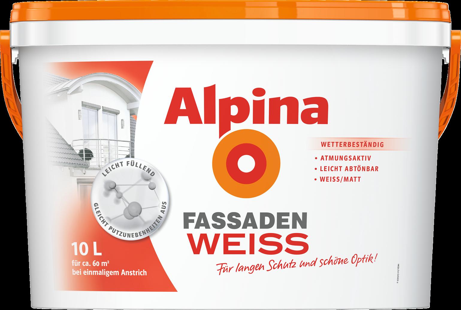 fassadenfarbe wei wetterbest ndige hauswand alpina. Black Bedroom Furniture Sets. Home Design Ideas