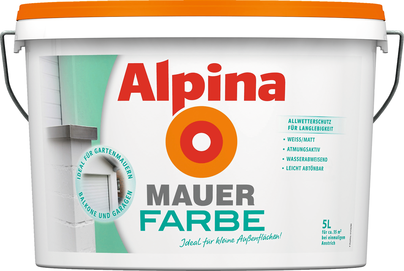 Außenfarbe außenfarbe weiß mauer garage balkon streichen alpina mauerfarbe