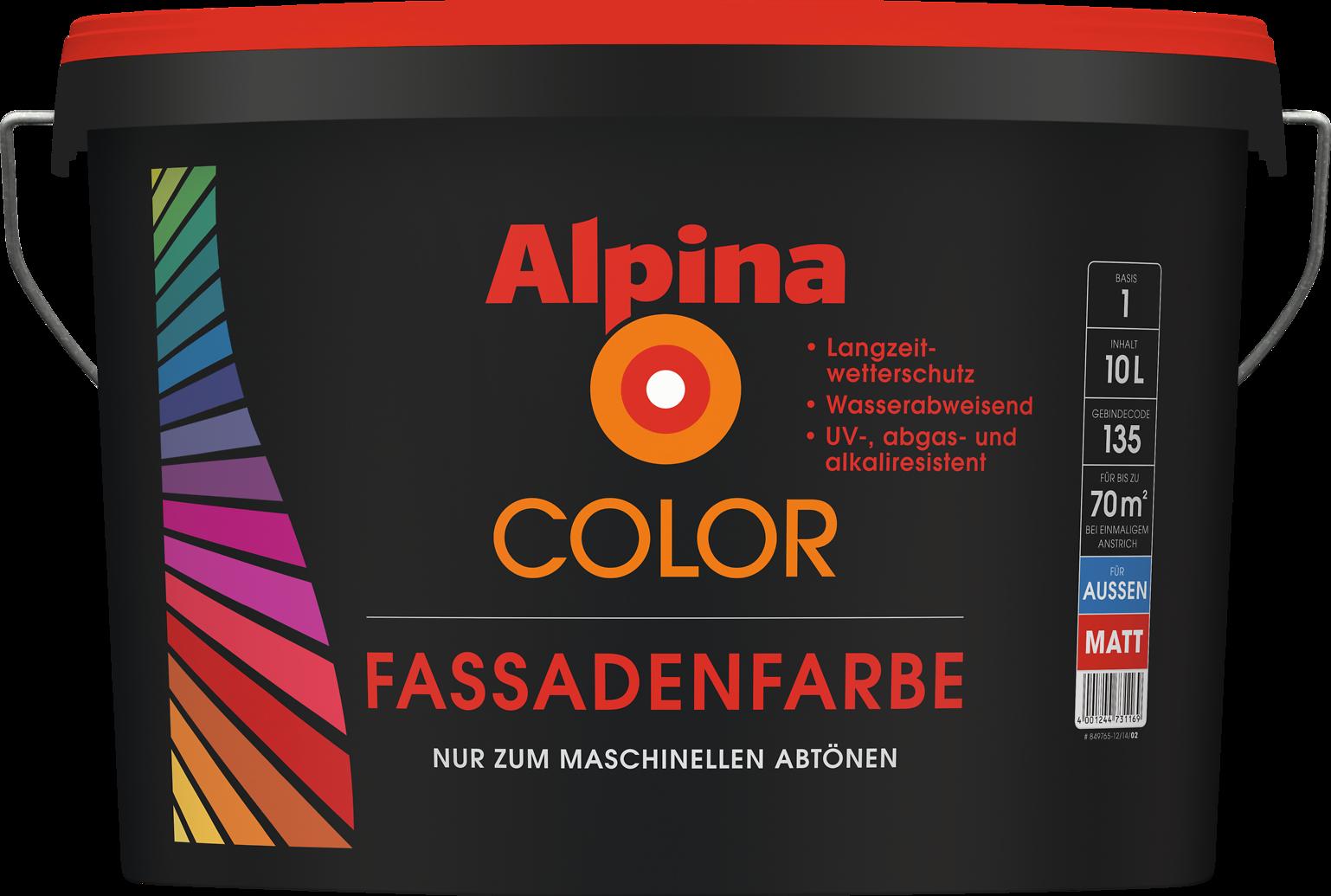 Fassadenfarben farbmuster  Haus-Farbe individuell mischen lassen: Alpina Color Fassadenfarbe ...