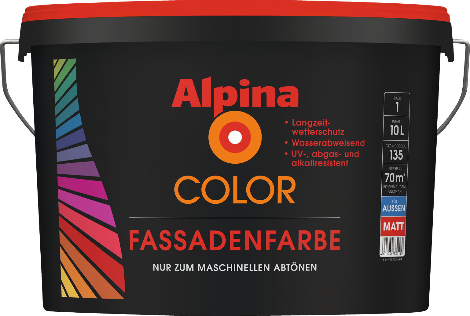 Haus farbe individuell mischen lassen alpina color - Farbmuster wandfarbe ...