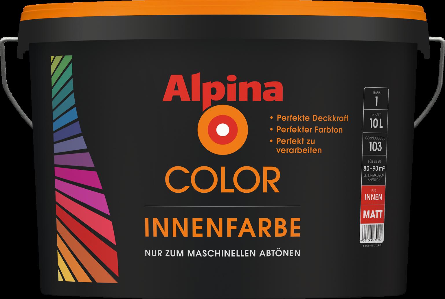 Mischmaschine individueller farbton alpina color farben - Wandfarbe mischen lassen ...