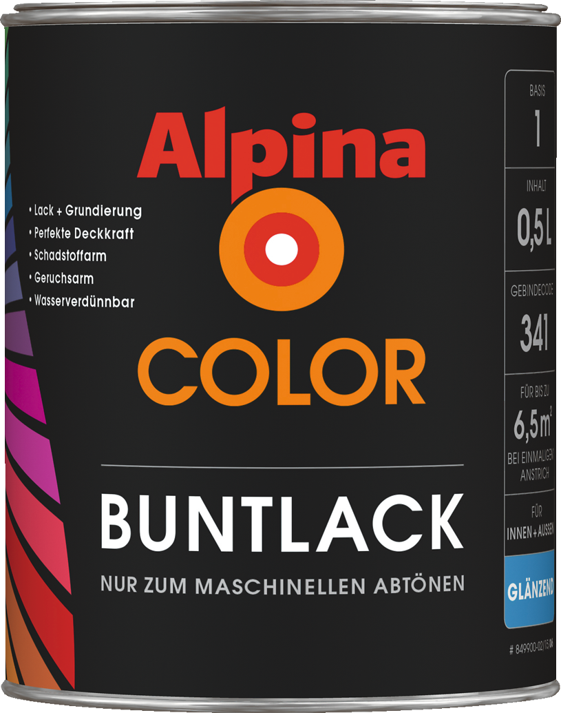 lack farbe individuell im baumarkt mischen alpina color buntlack alpina farben. Black Bedroom Furniture Sets. Home Design Ideas