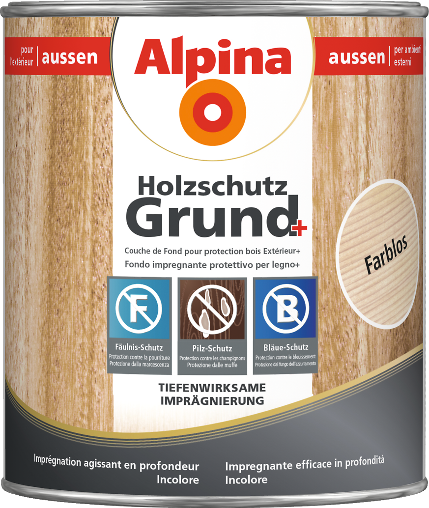 grundierung holz sch tzen und impr gnieren alpina holzschutz grund alpina farben. Black Bedroom Furniture Sets. Home Design Ideas