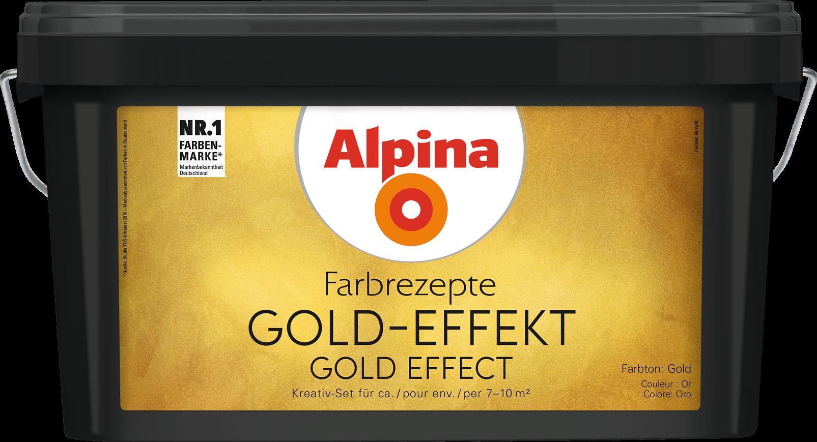 Alpina Farbrezepte GOLD EFFEKT