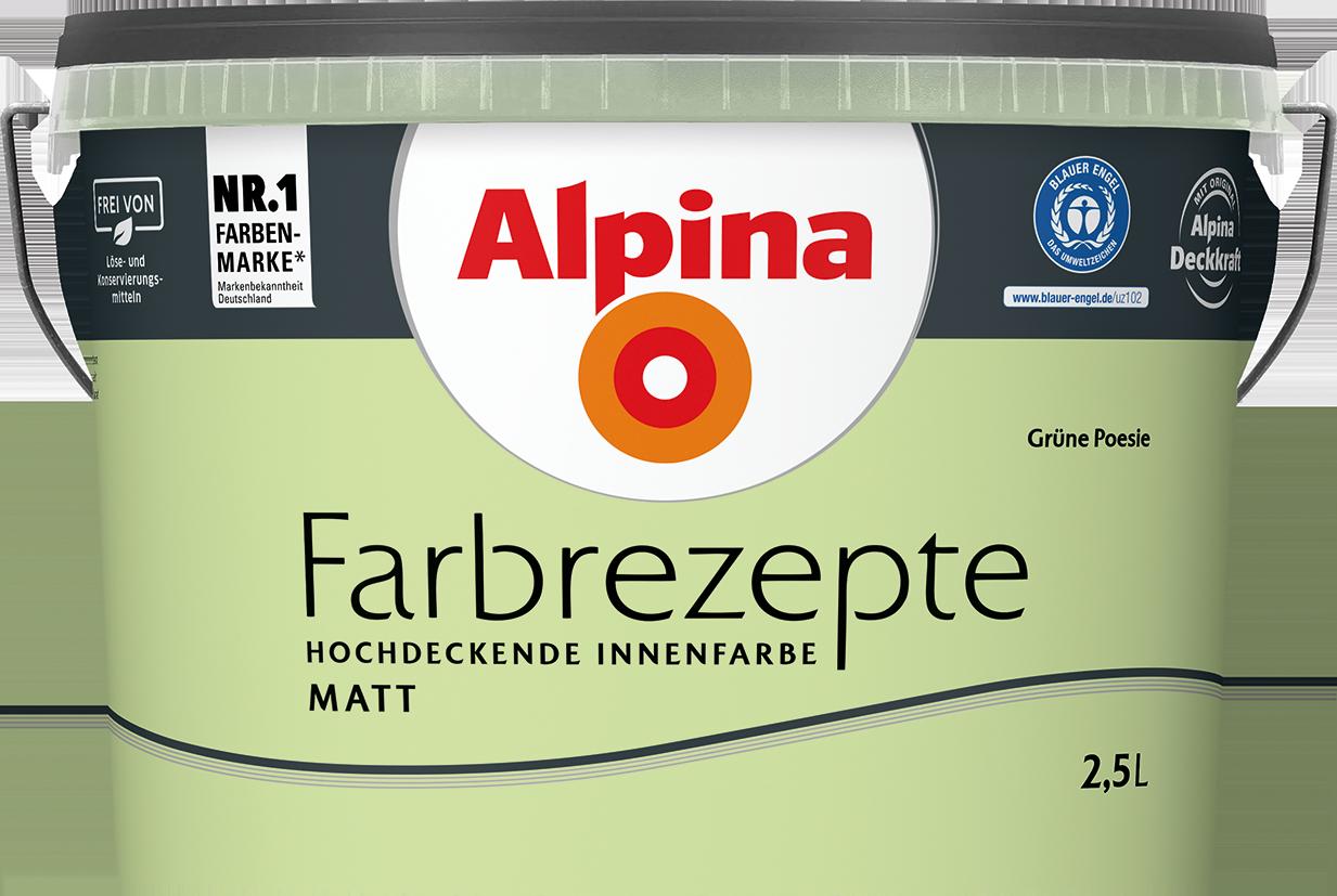 Innenfarbe in Grün, Gelbgrün streichen: Alpina Farbrezepte Grüne ...