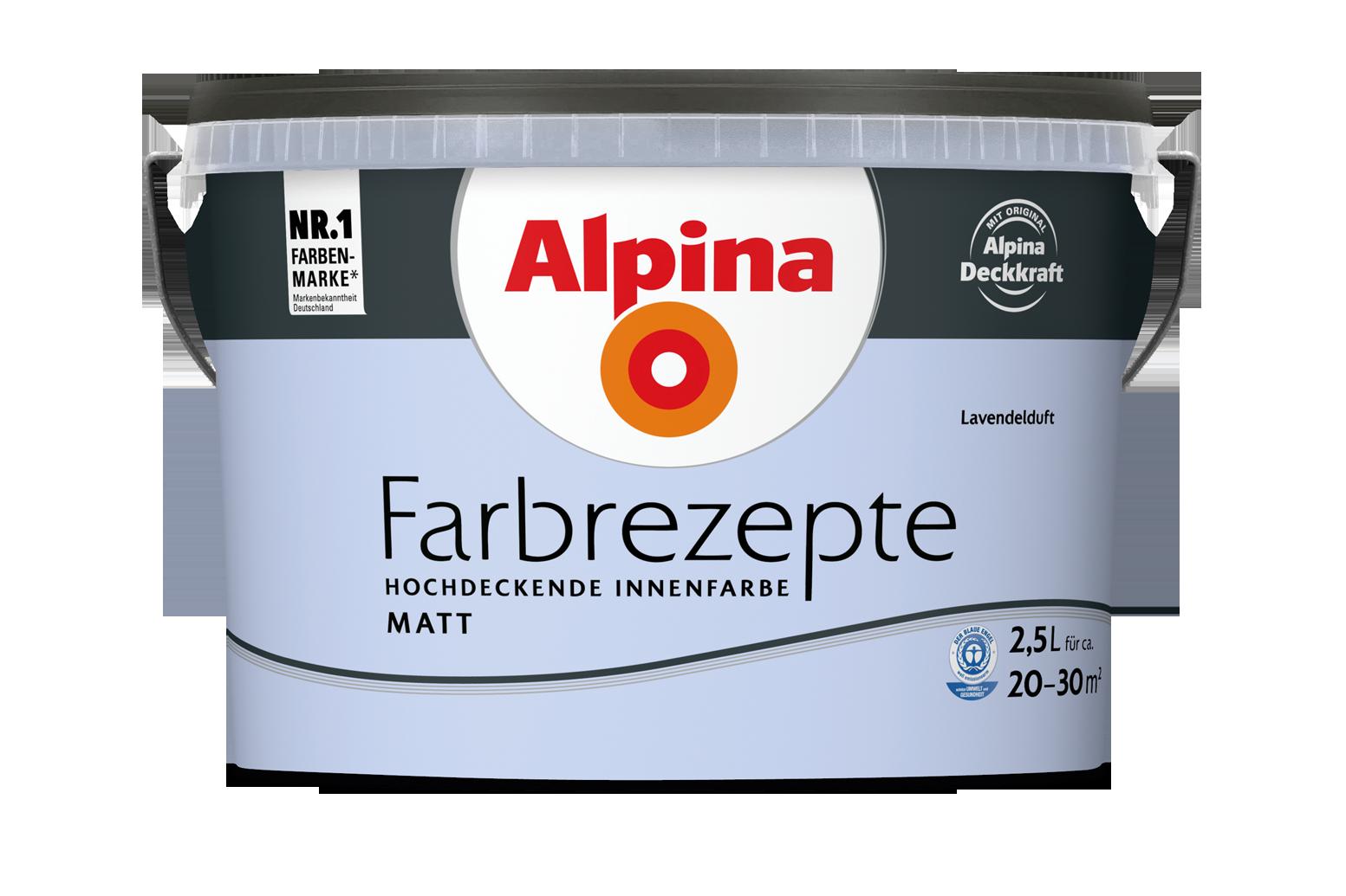 Innenfarbe in Violett, Lavendel streichen: Alpina Farbrezepte ...