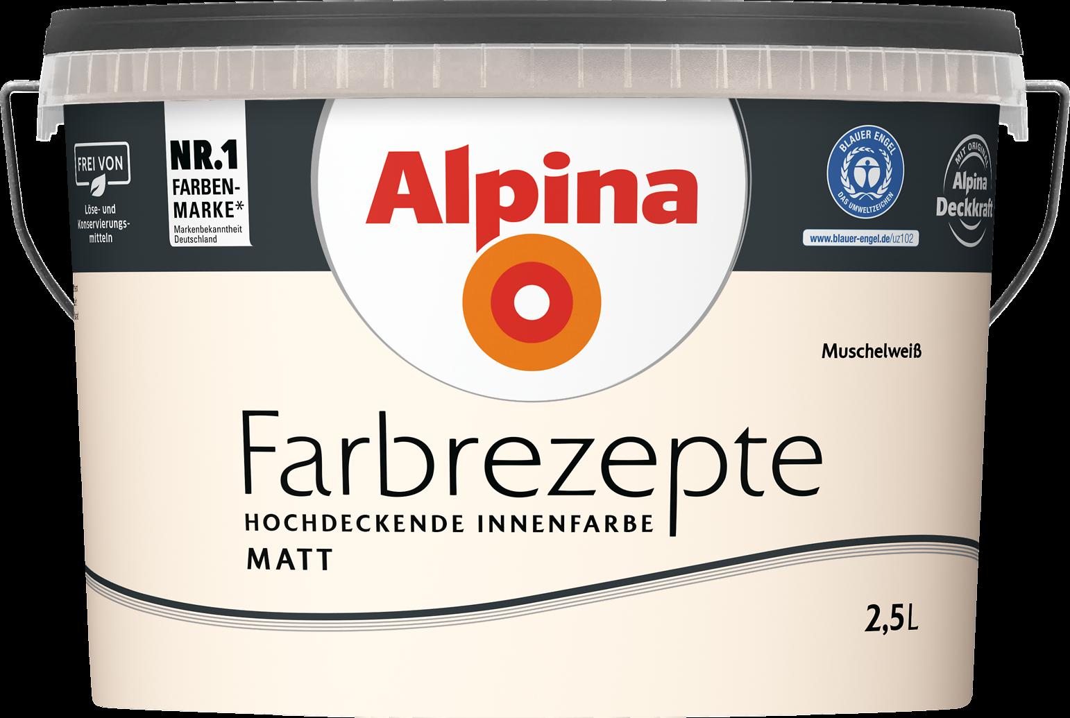 Alpina Farbrezepte Innenfarbe U201eMuschelweißu201c