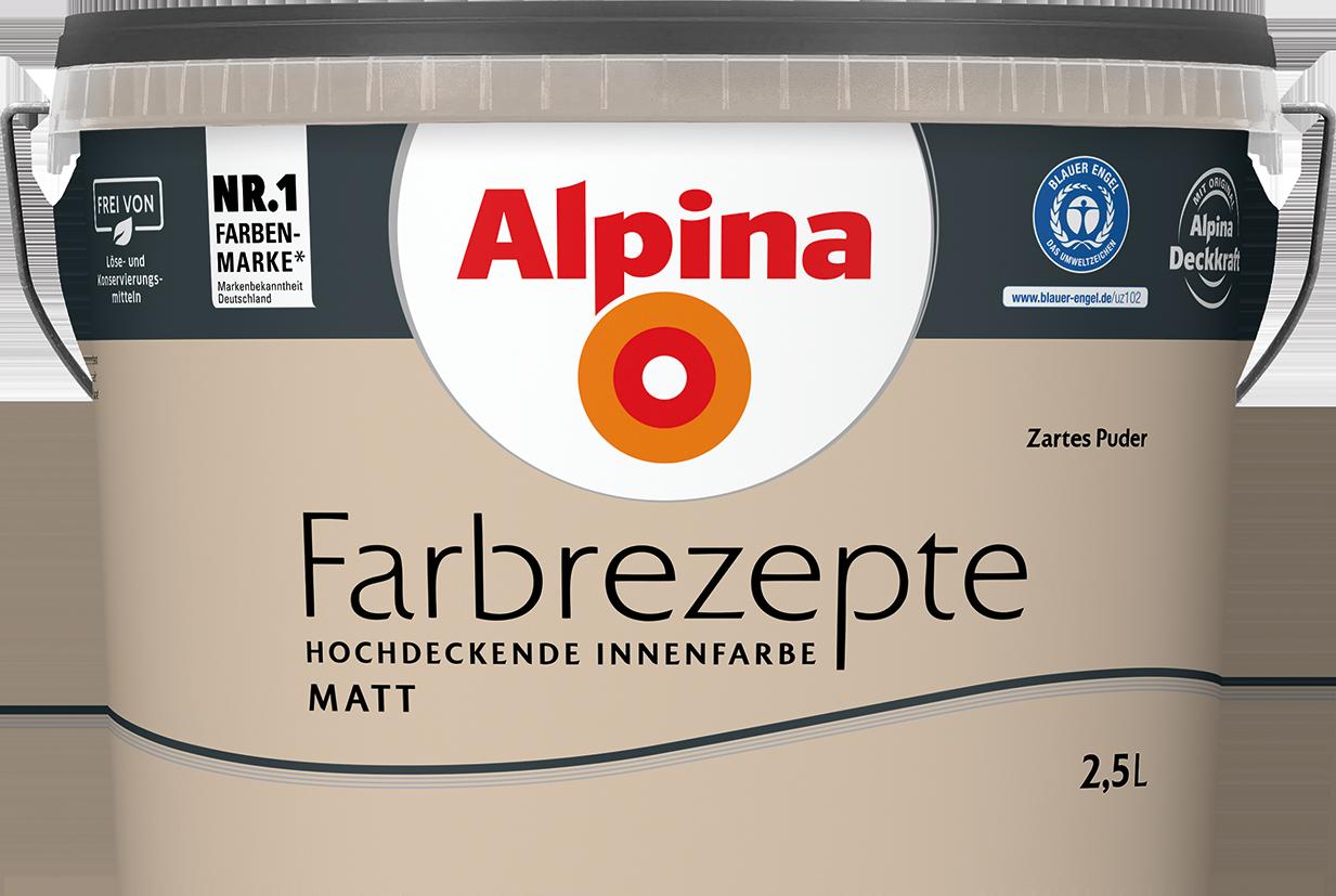 Alpina Farbrezepte Innenfarbe Zartes Puder - Alpina Farben