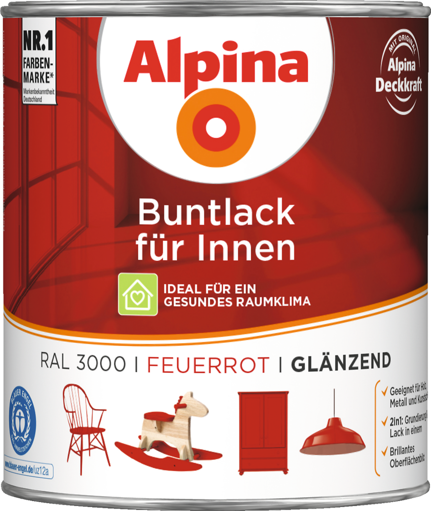lack rot integrierte grundierung alpina buntlack f r innen feuerrot alpina farben. Black Bedroom Furniture Sets. Home Design Ideas