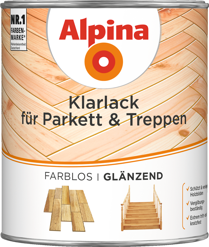 lack farblos f r holzb den mit grundierung alpina klarlack treppe parkett alpina farben. Black Bedroom Furniture Sets. Home Design Ideas