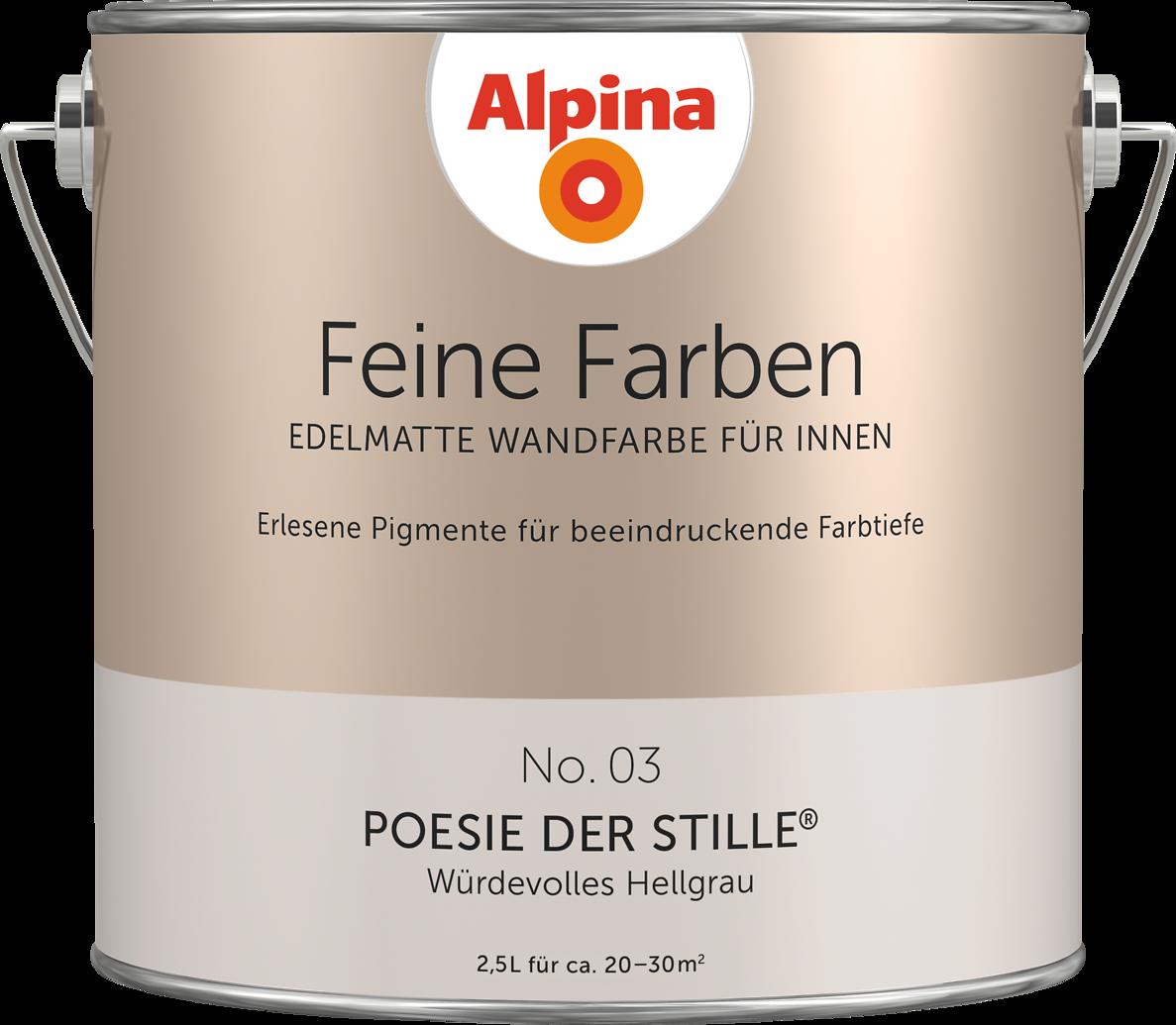 premium wandfarbe grau hellgrau alpina feine farben. Black Bedroom Furniture Sets. Home Design Ideas