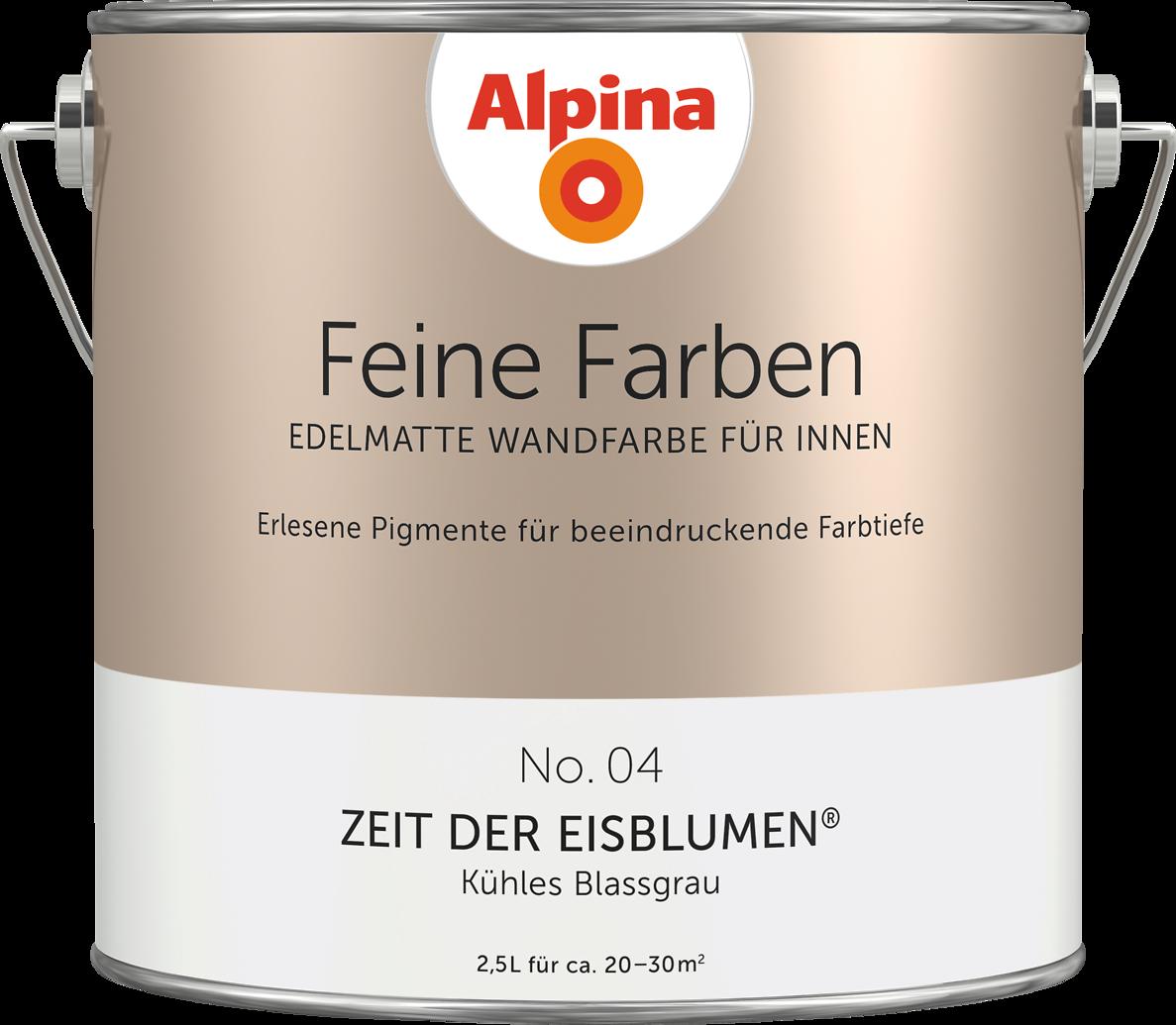premium wandfarbe grau blassgrau alpina feine farben. Black Bedroom Furniture Sets. Home Design Ideas