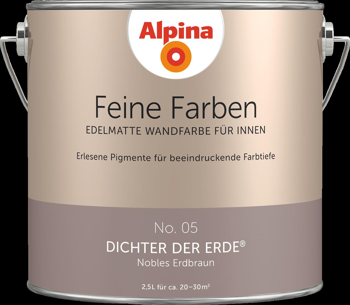 Alpina Feine Farben Edelmatte Wandfarben In Braun Alpina Farben