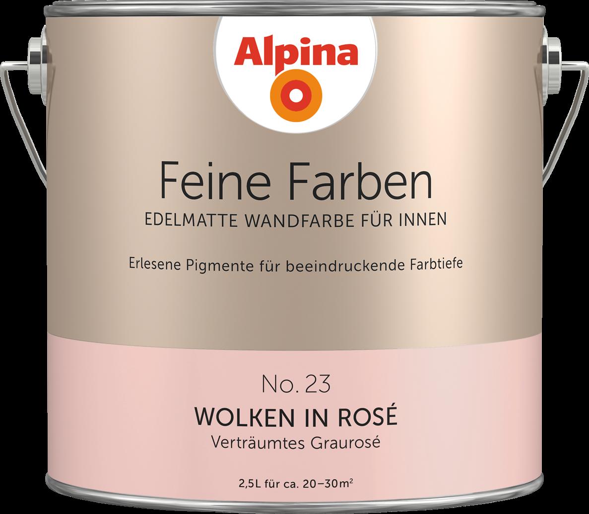 alpina feine farben no 23 wolken in ros alpina farben. Black Bedroom Furniture Sets. Home Design Ideas