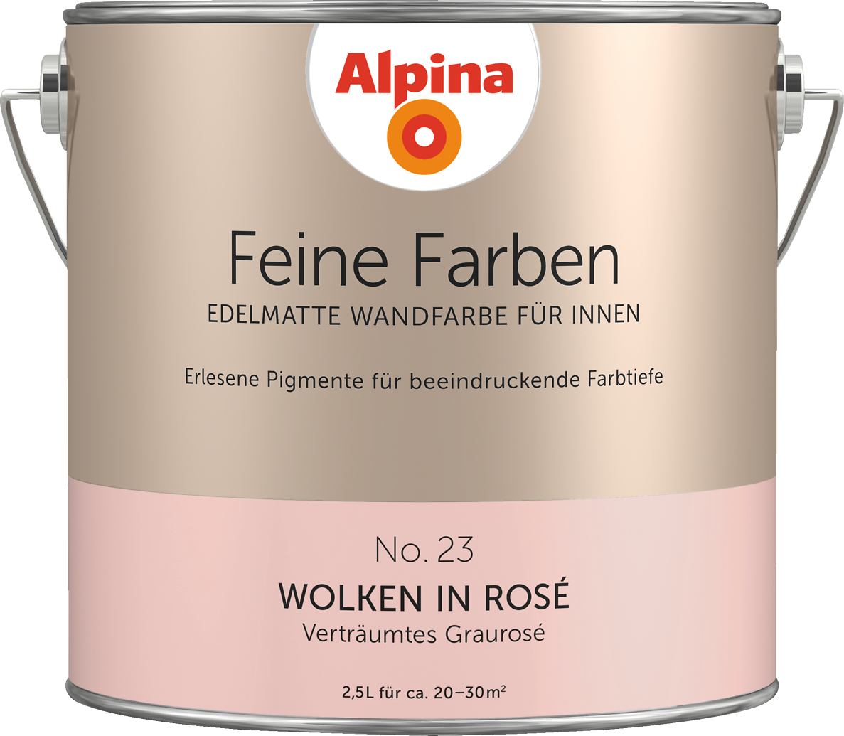 Welche Farbe Passt Zu Altrosa premium wandfarbe rot grau rosé alpina feine farben wolken in