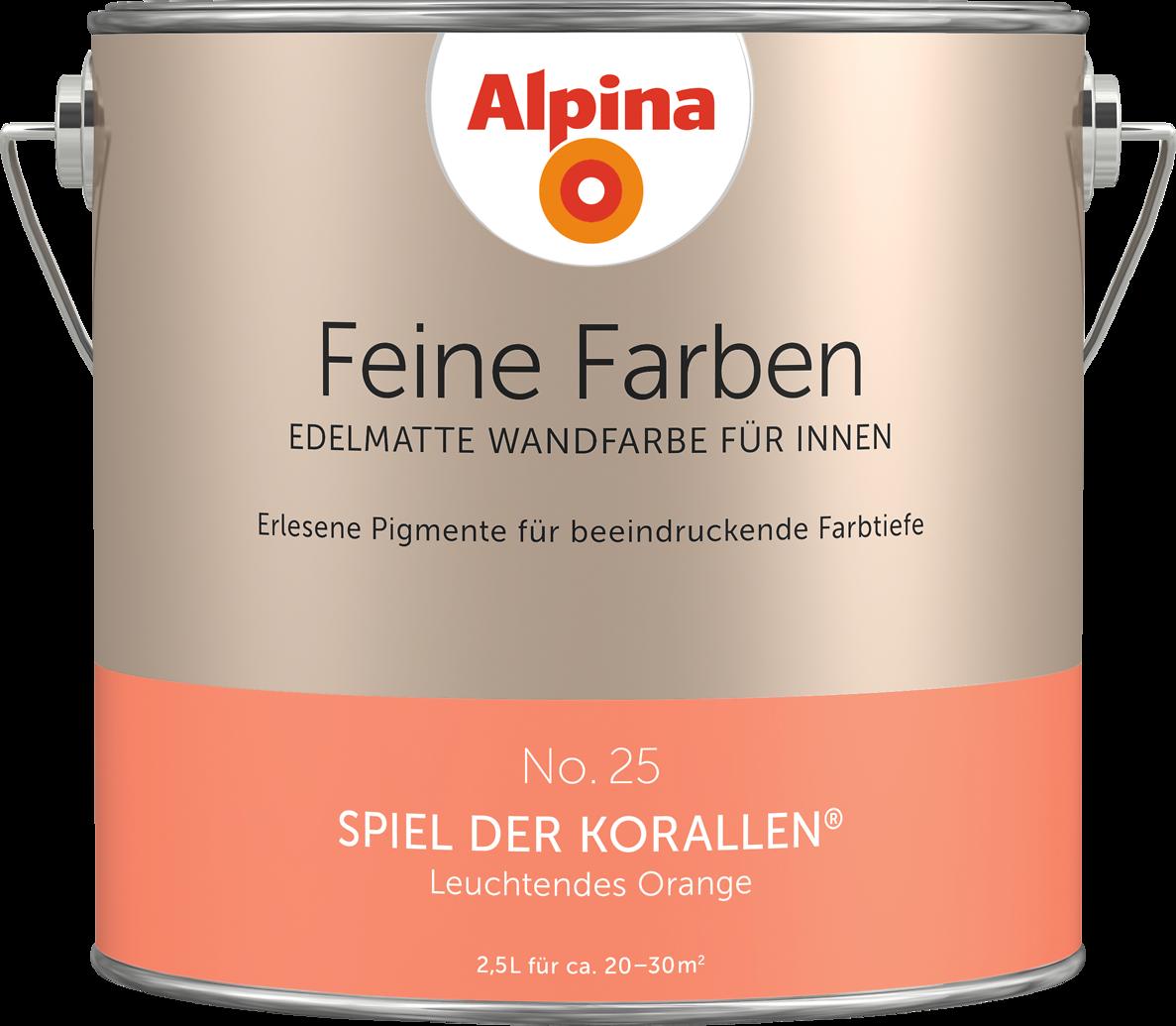 Premium-Wandfarbe Orange: Alpina Feine Farben SPIELEN DER KORALLEN ...
