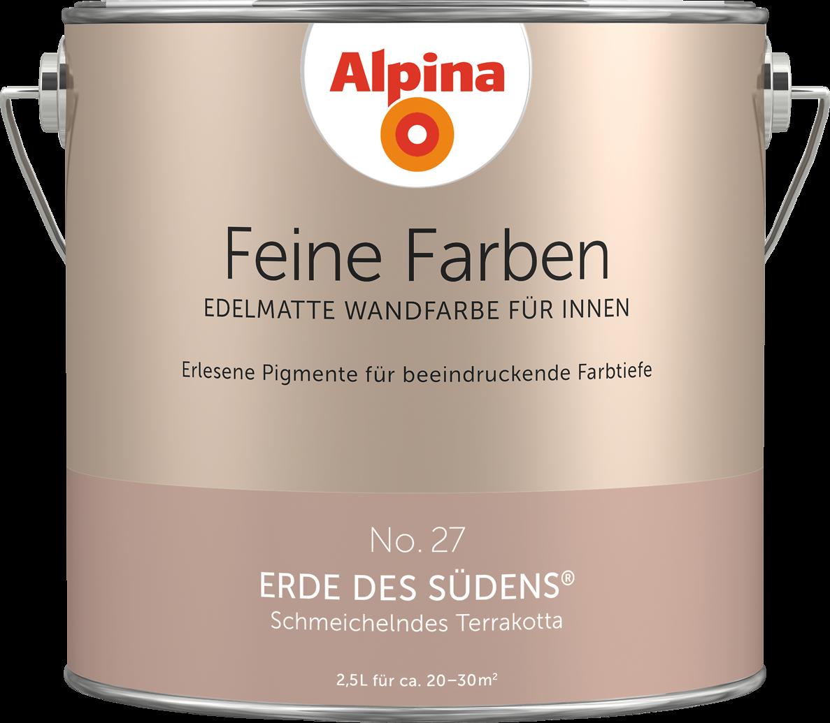 Premium Wandfarbe Orange Terrakotta Alpina Feine Farben Erde Des