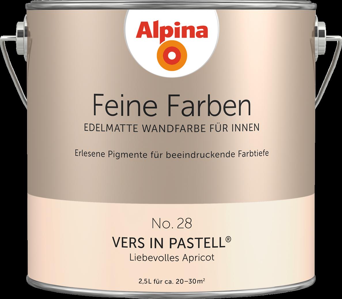 Alpina Feine Farben No. 28 U201eVERS IN PASTELLu201c   Liebevolles Apricot