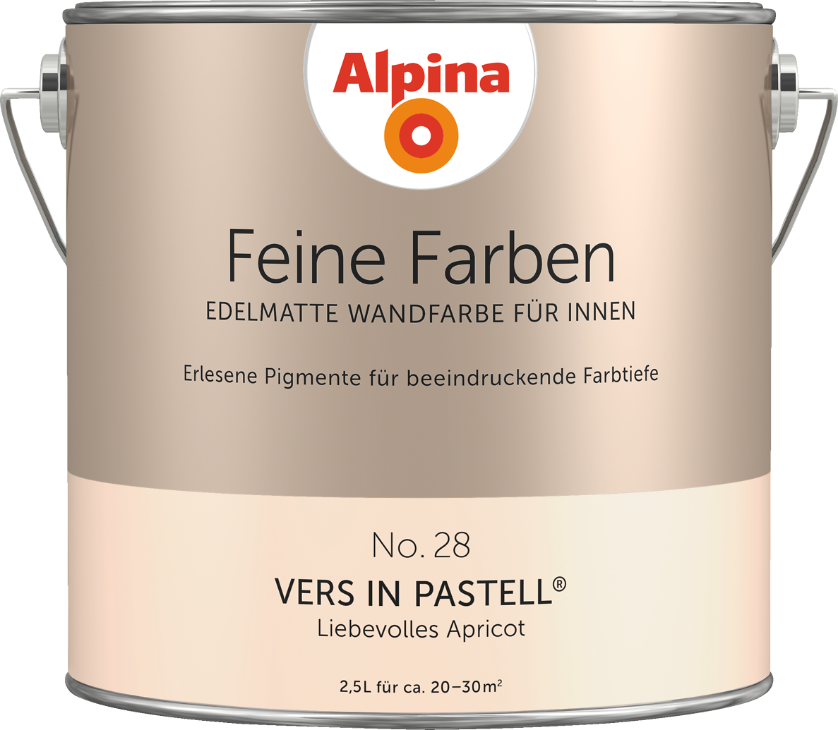 premium wandfarbe orange apricot alpina feine farben vers in pastell alpina farben. Black Bedroom Furniture Sets. Home Design Ideas