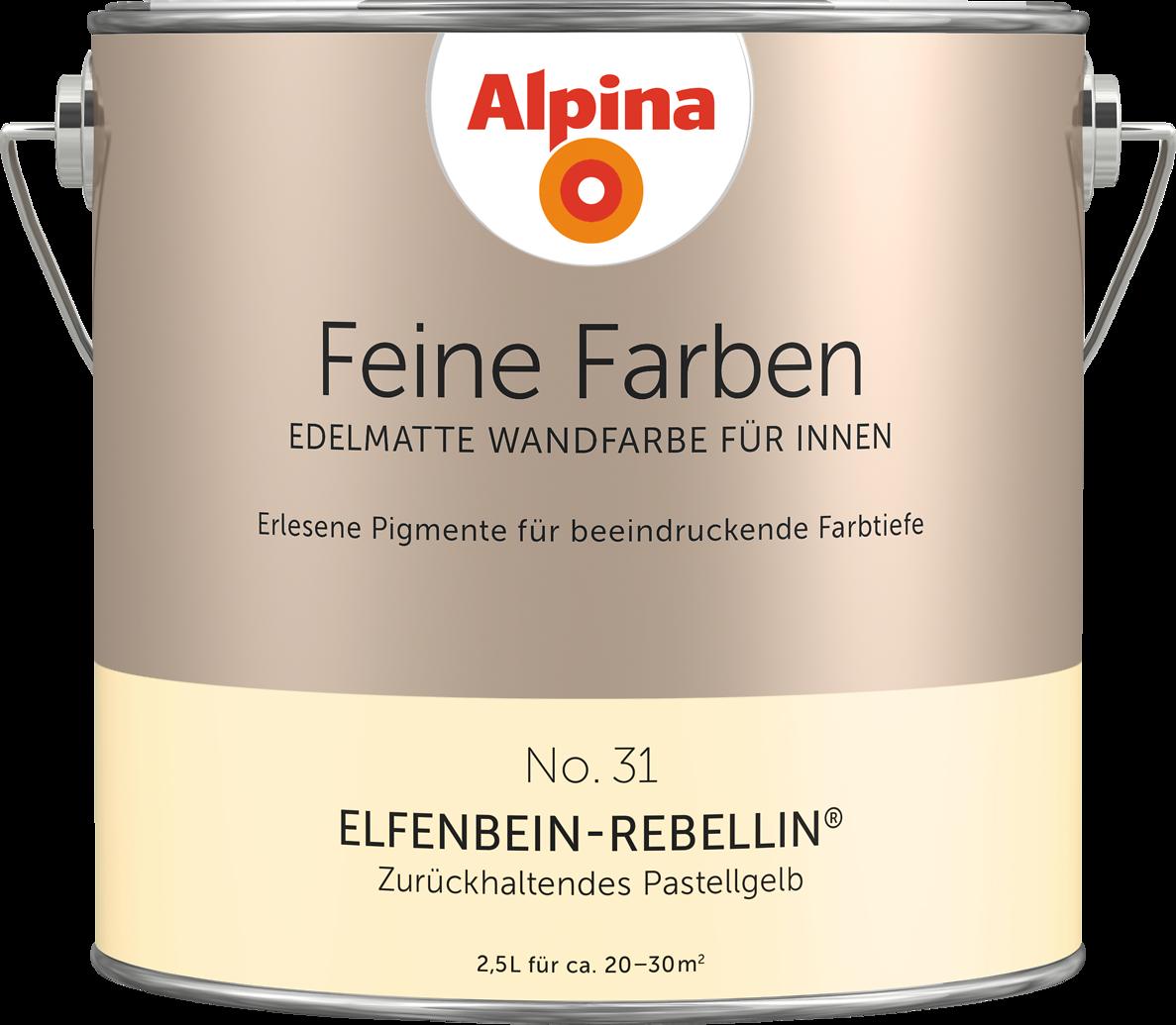 Premium-wandfarbe. Gelb, Pastellgelb: Alpina Feine Farben ... Gelb Grn Wandfarbe