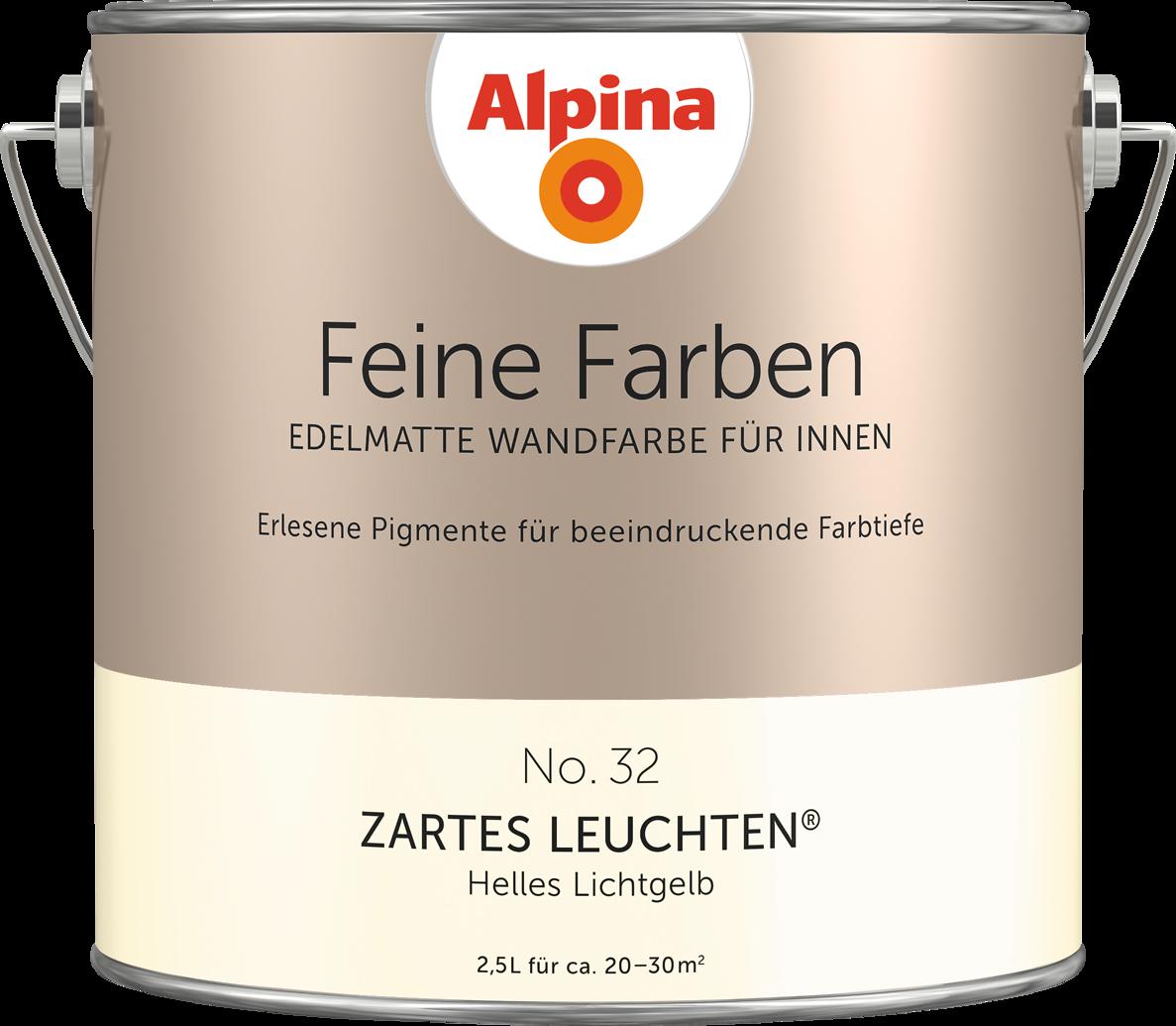 Premium-Wandfarbe. Gelb, Lichtgelb: Alpina Feine Farben