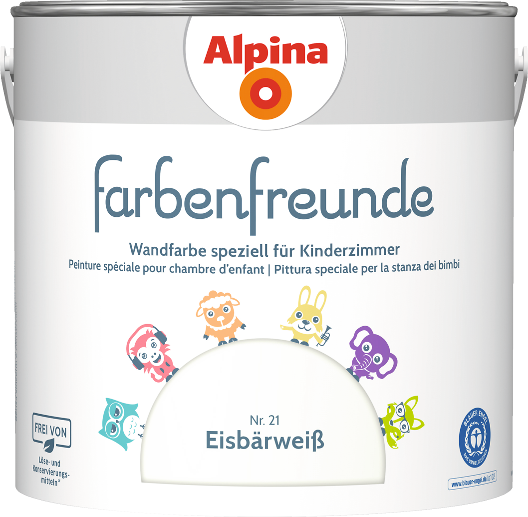 Alpina Farbenfreunde   Weiße Wandfarbe Speziell Für Kinderzimmer