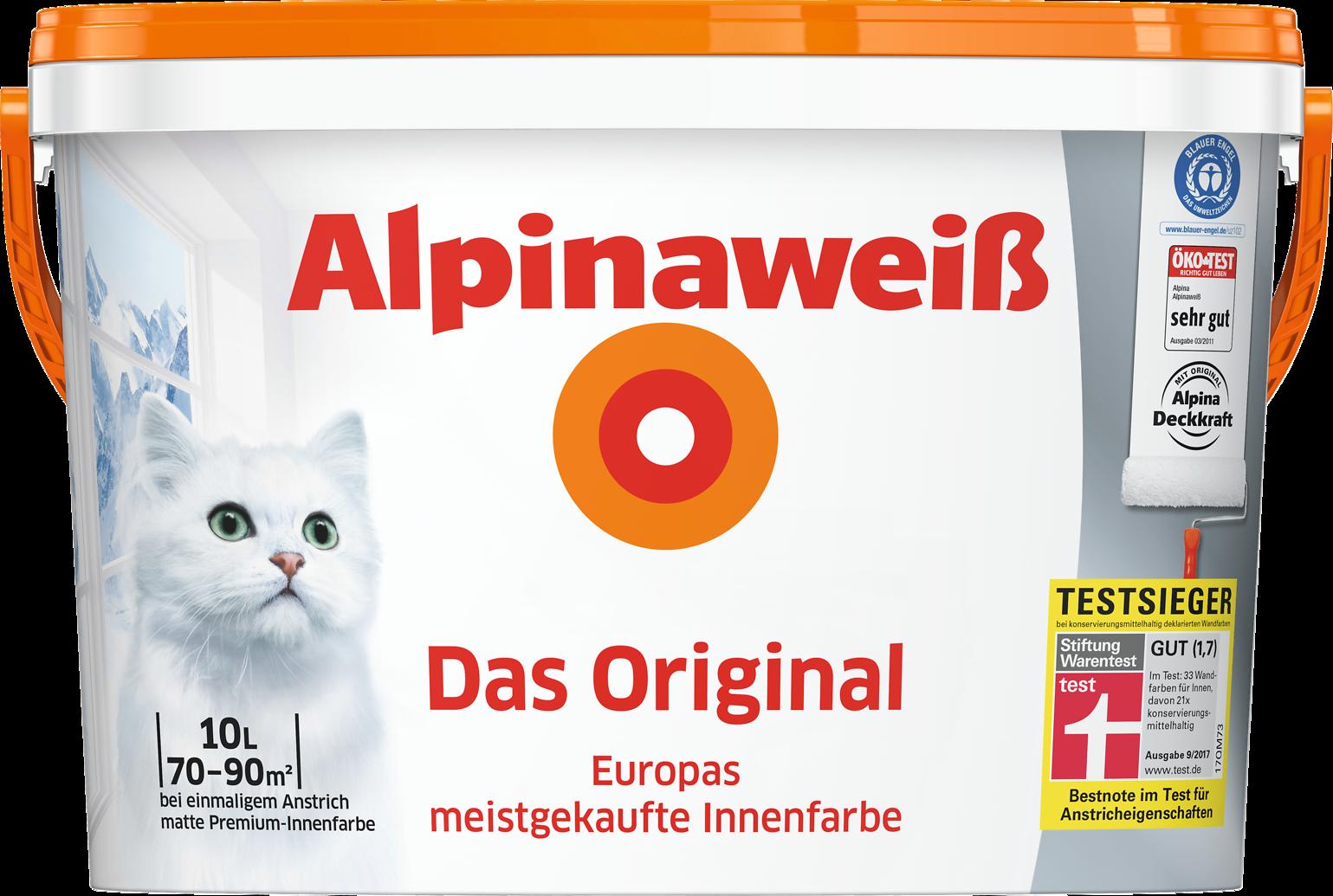 Weiße Wandfarbe wandfarbe weiß testsieger innenfarbe streichen alpinaweiß alpina