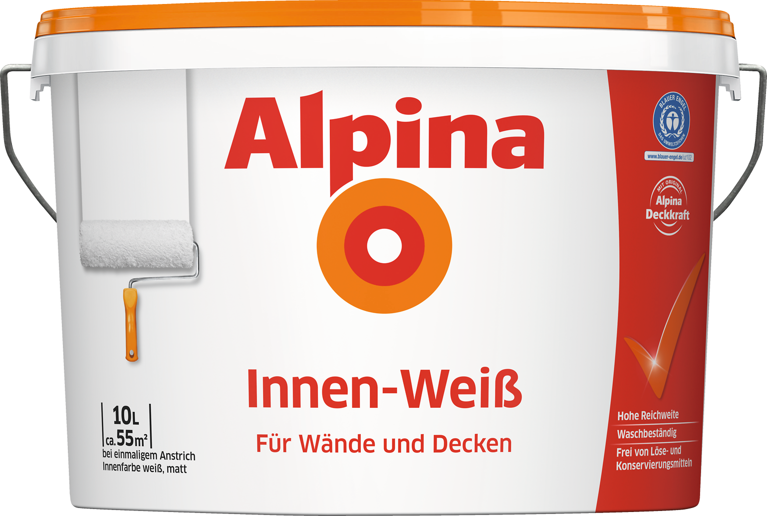 wandfarbe wei innenfarbe f r alle fl chen alpina innen wei alpina farben. Black Bedroom Furniture Sets. Home Design Ideas